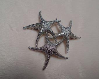1970's Starfish Brooch Signed Monet