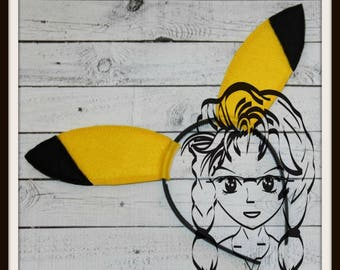 YeLLOW RoDENT Friend Ears ~ (2 Piece) Character Inspired Headband ~ In the Hoop ~ Downloadable DiGiTaL Machine Emb Design by Carrie