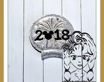 2018 FiREWORK NeW YeAR Ear (Add On ~ 1 Pc) Mr Miss Mouse Ears Headband ~ In the Hoop ~ Downloadable DiGiTaL Machine Emb Design by Carrie