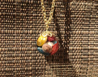Sea Shell Orb Necklace
