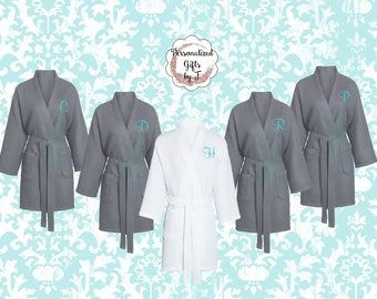 2 Bridesmaid Gift Robes, Personalized Bridesmaid Robes, Set of 2 ,Monogrammed Robe, Waffle Robe, Personalized Bridesmaid Gifts, Bachelorette
