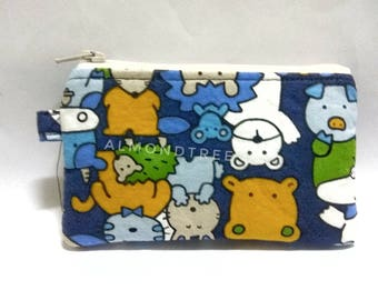 Kawaii Animals, cute coin purse, padded, zip women wallet id20170206, cardholder, jogging accessory, bag organizer, card case, portefeuille