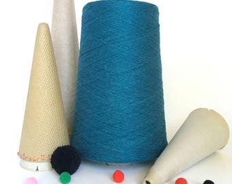 2/24 Acrylic Yarn on Cone - Teal - 1 lb - Machine Knitting - Weaving - Crochet - Loom