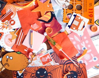 Orange - Paper Ephemera Kit