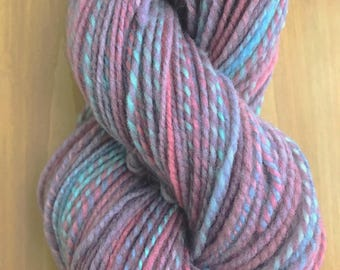 206 yds worsted weight Falkland wool handspun yarn