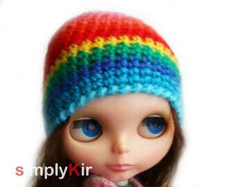 SimplyKir rainbow blythe hat (PreMade)