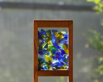 Freestanding Kaleidoscope Sea Glass Windowsill Suncatcher