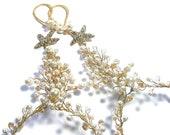 Beach wedding shoes - Gold, Starfish beach barefoot sandals gold, Beach bridal foot jewelry, Beach wedding foot jewelry, Beach bride anklet