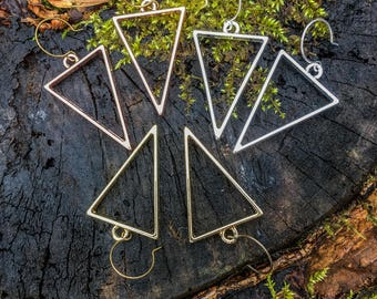 Triangle Earrings || Large Triangles | Gold | Rose-Gold | Silver | Bride | Bridesmaid | Triangles | Minimalist | Triangle Earrings For 10