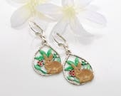 Bunny Earrings Ivy & Leif -Rabbit Jewelry -Bunny Rabbit -Rabbit Earrings-Rabbit Lovers Gift -Pet Bunny Rabbit -Woodland Animal -Gift for Her