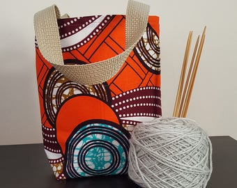 Orange Bounce Knitting / Tote Bag