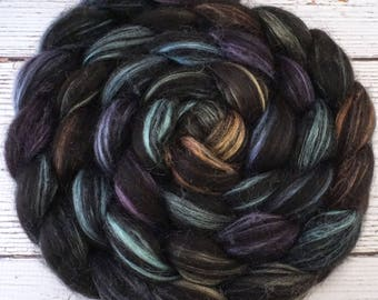 Handpainted Baby Alpaca/Silk Roving - 4 oz. ARIZONA - Spinning Fiber