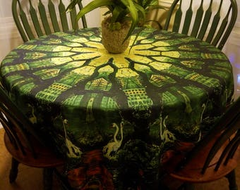RW2 Swan Lake Kaleidoscope Tablecloth Festival Tapestry scarf by Robert Walker