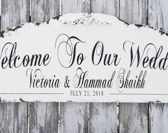 Welcome to Our Wedding Sign | Wedding Welcome Sign | Wooden Welcome Sign | Welcome Wedding Sign | Welcome Wood Sign | Ceremony Wedding Sign