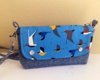 The Hipster Bag- A Modern Fannie Pack- Charlie Harper Flying Birds