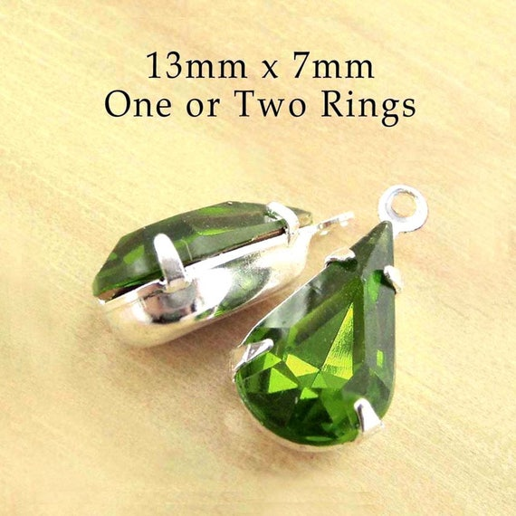 olivine rhinestone earrings or pendant beads