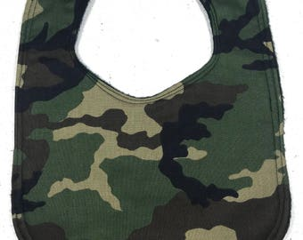 Camouflage Baby Bib - infant bib - camo bib - military - baby boy bib  - baby girl bib - baby shower gift