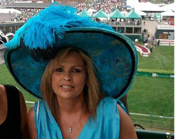 Featured listing image: Edwardian Style Hat Kentucky Derby Hat Edwardian Hat Elegant Hat Women's Hat - China Doll - Wide Brim Hat