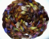 Wool Top Hand Dyed  for Hand Spinning Yarn or Felting Needle Felting
