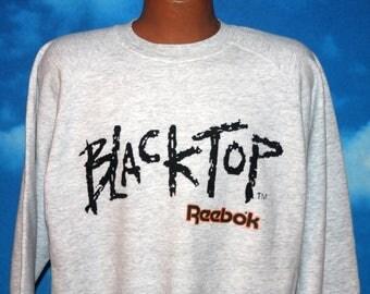 Blacktop Reebok Grey Pullover Sweatshirt Large Vintage 1990s