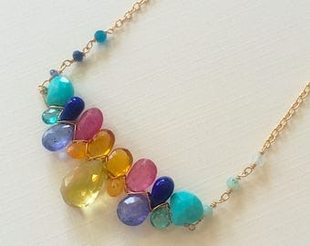 Key West Sunset Multi Gemstone Necklace
