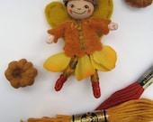 Harvest Fairy in Orange Brooch