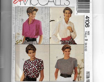 McCall's Misses' Blouse Pattern 4106