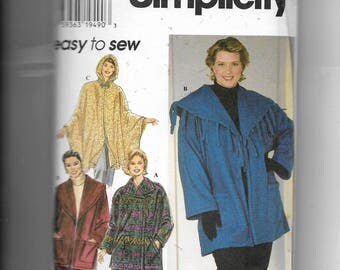 Simplicity Women's Jackets and Poncho Pattern 7346