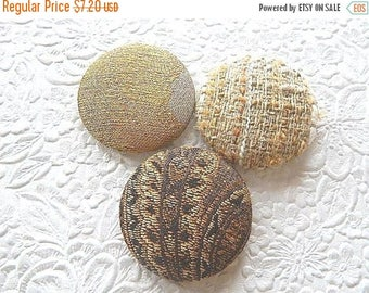CLEARANCE - Gold buttons, fabric covered buttons, embroidered buttons, size 75 buttons