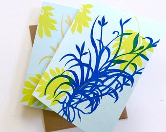 Silhouette Floral -  A2 Notecard