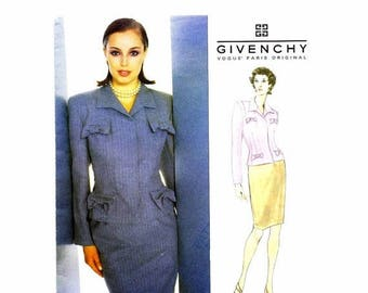 SALE Givenchy Top Skirt Suit John Galliano Vogue 1889 Sewing Pattern Size 6 - 8 - 10 Bust 30 1/2 - 31 1/2 - 32 1/2 UNCUT