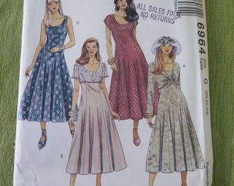 McCalls 6964 Misses Fit N Flare Dress Sewing Pattern sz 20 22 24 UNCUT