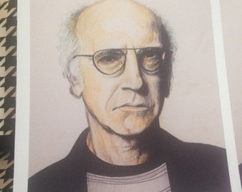 "Larry David  5"" x 7 ""ART PRINT"