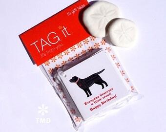 Black Labrador Gift Tags