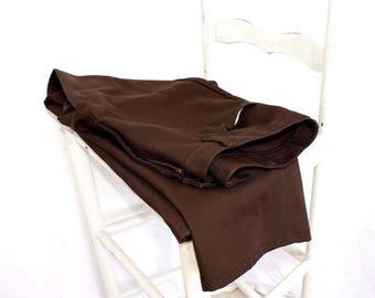Vintage Wrangler Pants Dark Brown Casual Slacks Polyester Mens Size 36 x 32