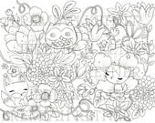 Foresty Friends - Coloring Page