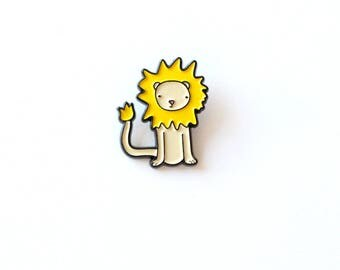 Lewis the Lion enamel pin   limited edition