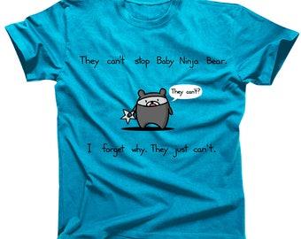 They Can't Stop Baby Ninja Bear Tshirt
