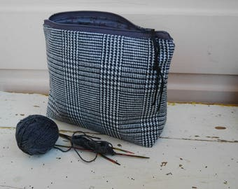 wool case - houndstooth