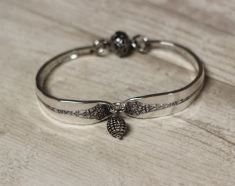 Spoon Bracelet, Silver Spoon Jewelry, Flatware Bracelet, Silverware Jewelry, Magnetic Clasp, Vintage Bracelet, Upcycled Bracelet,