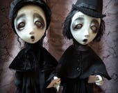 Loopy Southern Gothic Art Doll Victorian Dark Goth Ghostly Haunted Carolers