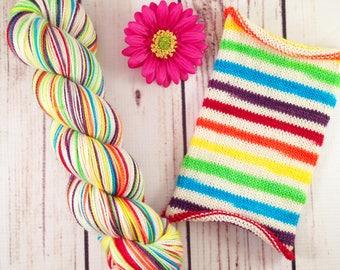 Behold, A Pale Rainbow: Hand-dyed gradient self-striping sock yarn, 80/20 SW merino/nylon