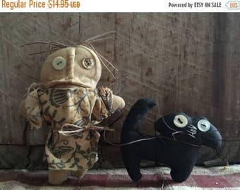 CustomerAppreciationSale Primitive Doll Dollie & Kitty
