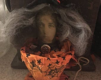 CustomerAppreciationSale Primitive Doll, Halloween, Witch, Witches Brew