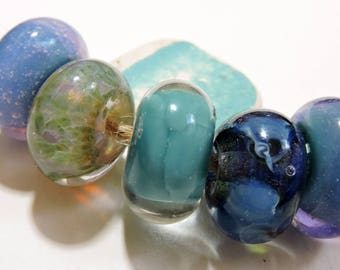 Lampwork Beads WATERCOLORS Two Sisters Designs 060417F