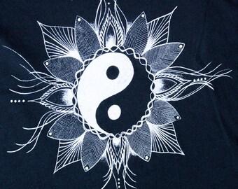Yin Yang Tank Top Light and Dark Balance Yoga Meditation