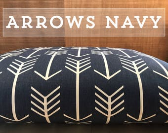 Dog Bed Cover, Arrows Navy Dog Bed Duvet Cover, Cat Bed Cover, Small to XL Covers for Dog Beds, Personalization Extra