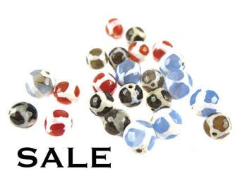 Random Mix of Turtle Agate Beads - (10x) (NS522)- SALE - 25% off
