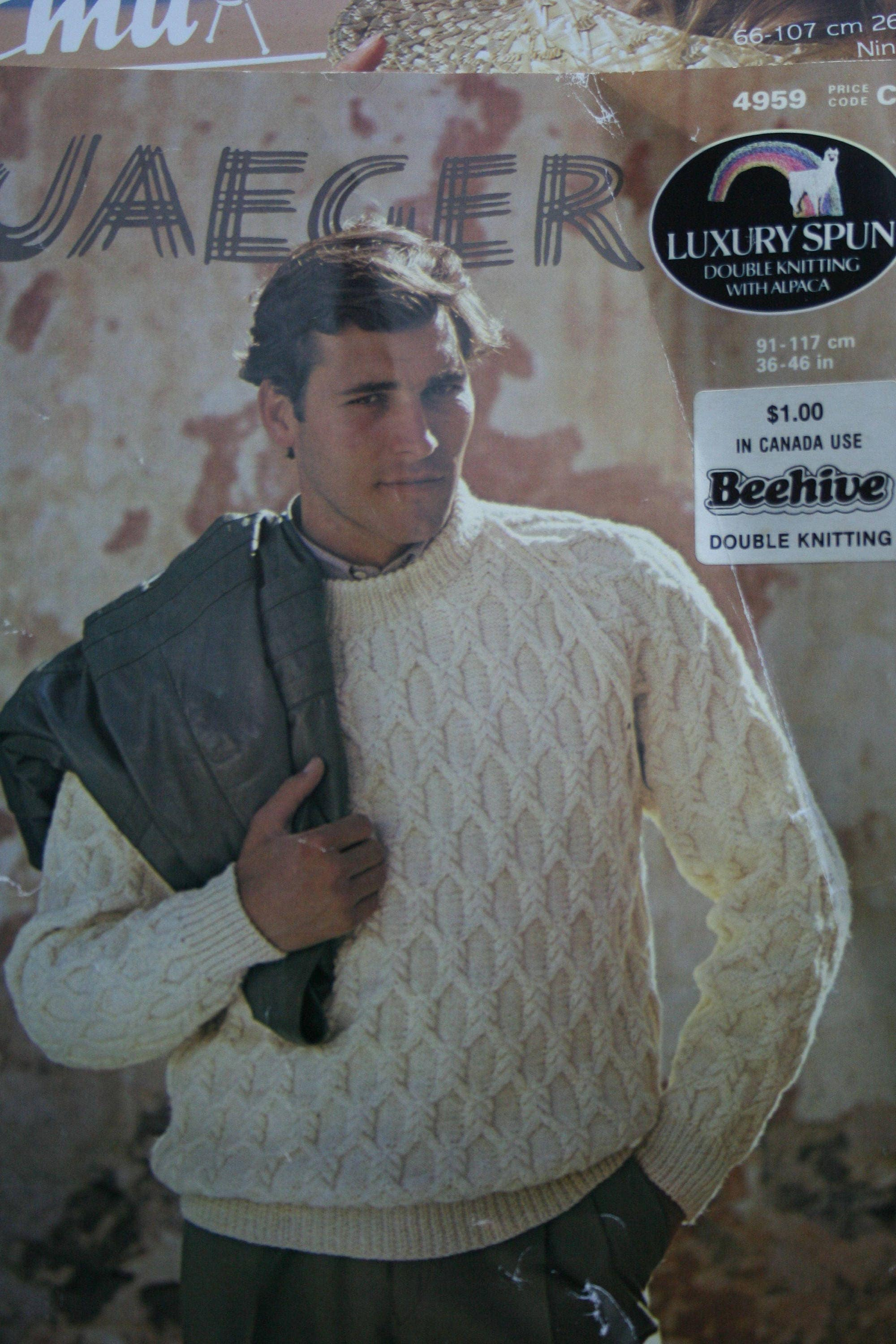 Sweater knitting pattern jaeger 4959 sizes 36 46 inches 91 117 495 bankloansurffo Images