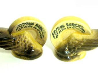 Flying Saucer Salt & Pepper Shakers Vintage